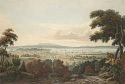 A View of Montreal, & the River St. Lawrence, from the Mountain